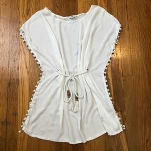 Raviya White Swim Coverup